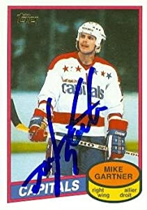 Mike Gartner autographed Hockey Card (Washington Capitals Hall of Fame) 2002 Topps #2 Rookie Reprint