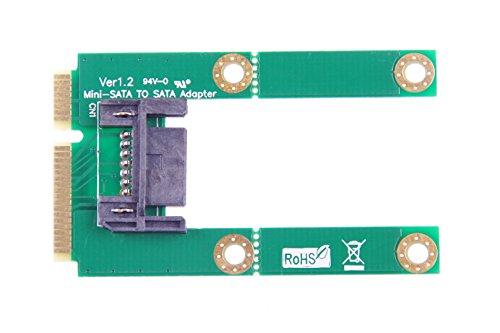 KNACRO Mini-SATA to SATA adapter mSATA to 7Pin SATA adapter Length adjustable (Full-length/Half-length) by KNACRO