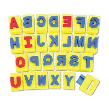 Chenille Kraft® Handle Sponge Alphabet Set HANDLE,SPNGE ALPHA,26,AST (Pack of5) by CHNLLE