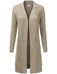 Womens Light Weight Long Sleeve Open Front Long Cardigan