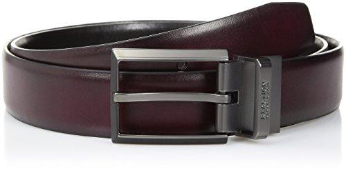 Kenneth Cole REACTION Men's Reversible Dress Belt, burgundy/black, 36 (Men Dress Reversible Belts)