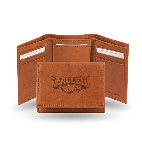 NFL Philadelphia Eagles Embossed Genuine Leather Trifold Wallet (Eagles Embossed Leather)