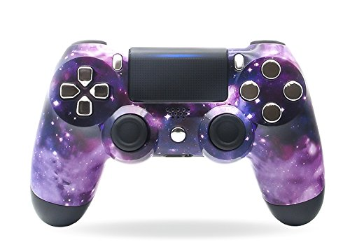 (Sony PS4 DualShock 4 PlayStation 4 Wireless Controller - Custom Purple Nebula Galaxy Stars Design Un-Modded)