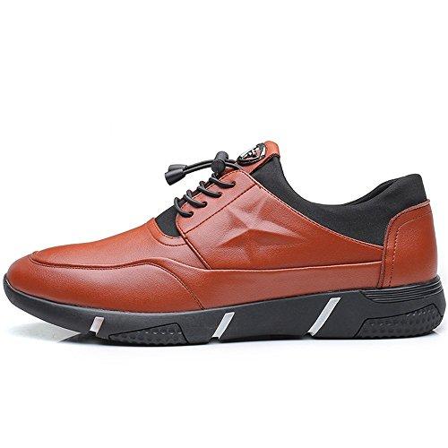 Shufang Color Dimensione Scarpe Loafer Uomo Up uomo Mocassini Leisure Flat Marrone EU sottopiede Scarpe Da Mocassins Heel 2018 shoes da ginnastica con 40 Comfort fodera da Lace Marrone BrwqS5B