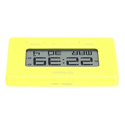 Oregon RM938, Dual Alarm, Time Calendar, Yellow