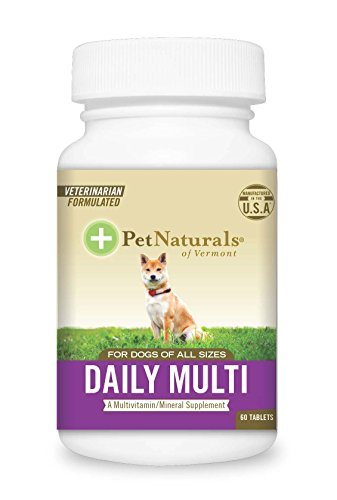 Pet Naturals of Vermont - Daily Multi for Dogs, Multivitamin Formula, 60 Chewable Tablets