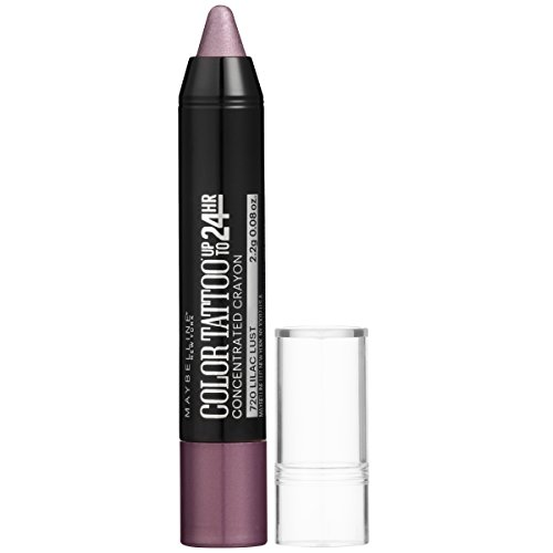 (Maybelline New York Eyestudio ColorTattoo Concentrated Crayon,720 Lilac Lust, 0.08 oz.)