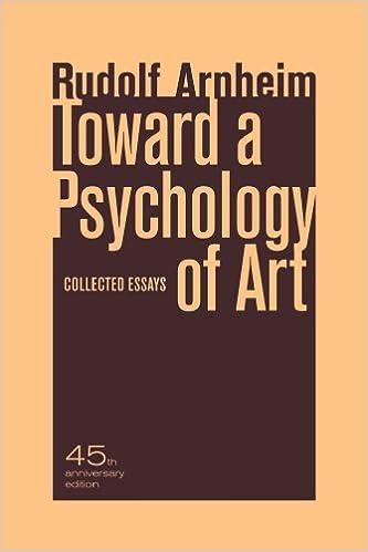 com toward a psychology of art collected essays  com toward a psychology of art collected essays 9780520266018 rudolf arnheim books