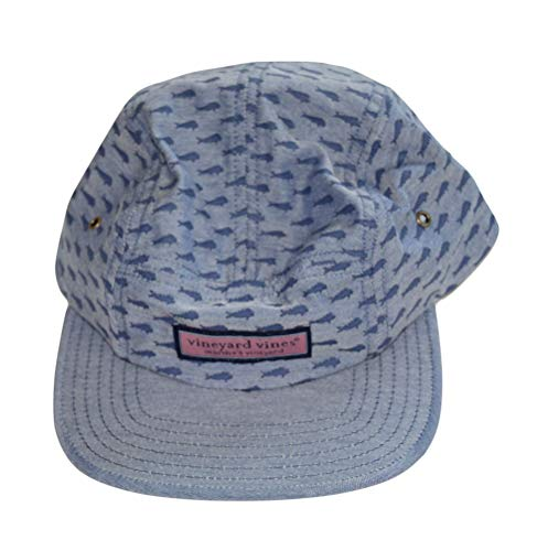 Vineyard Vines Men's Fish Printed Five Panel Hat Blue Cap 1F000029-410-10001 (Vineyard Vines Men Hats)