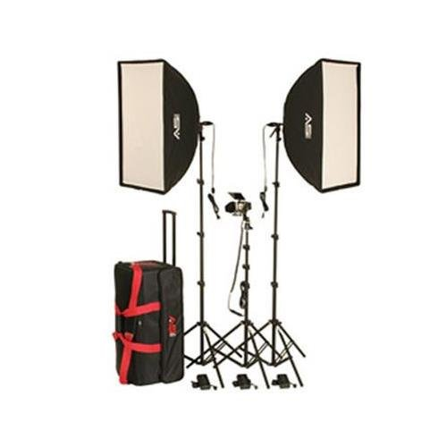 Smith-Victor KSBQ-2600 1100W Pro Softbox 3-Light Kit, Includes 2x SBQ-2432 24''x32'' All-In-One SoftBox Light and 1x SV840 AC/DC Constant Light
