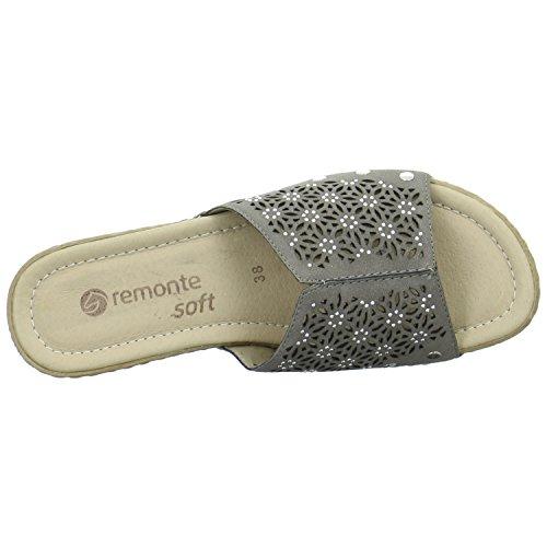 Remonte Damen Pantoletten Größe 41 Grau (Grau)