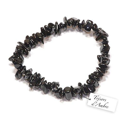 Bracelet Baroque en Tourmaline Noire - Pierre Naturelle - Lithothérapie Reiki - Protection