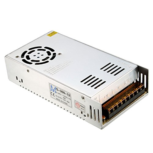 uxcell Switch Power Supply Driver S-360-12,AC 110V/220V to DC 12V 30A 360W for LED Strip Light by uxcell (Image #5)