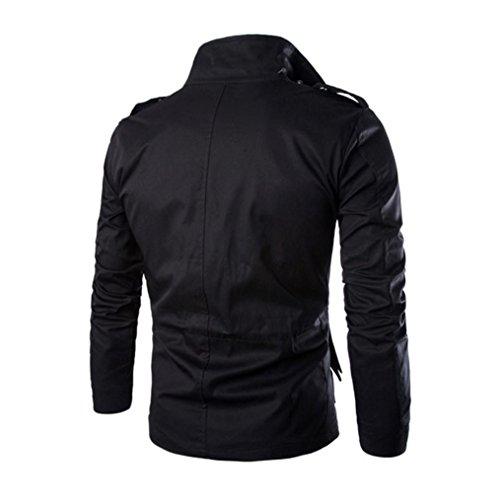 mezcla hombre Negro algodón capa abrigo Ropa de para abrigo RETUROM y casual Venta caliente de los hombres de de de el chaqueta 1WT1tqFpZU