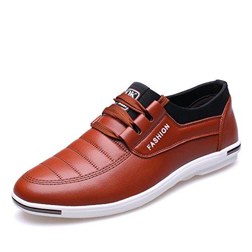 GTYMFH Herrenschuhe Innen Erhöht Freizeitschuhe Sommer Schnürsenkel Atmungsaktive Schuhe 6cm Herren Turnschuhe Brown6cm
