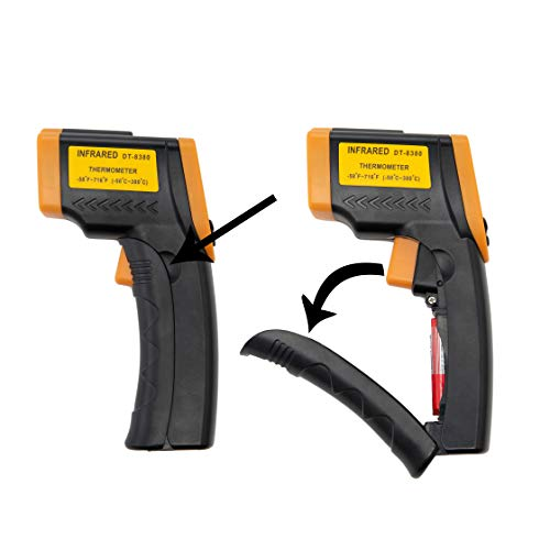 Beslands Digital Lasergrip Infrared Laser Thermometer Temperature Gun-58 F to 716 F -50 to 380 Non-Contact Measuring Device