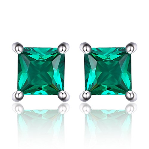Jewelrypalace-Womens-Stud-Earrings-925-Sterling-Silver-Square-Created-Emerald