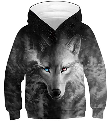 Azuki Youth Boys Wolf Hoodie and Girls Hoodie with Wolf