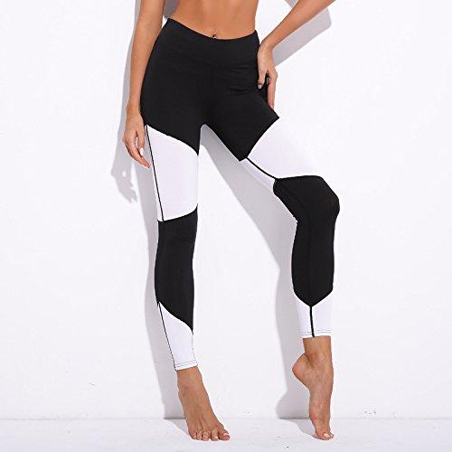 Leggings Femmes Sport Blanc Noir Yoga Patchwork Mayuan520 x80PTqEwT cdec47152d6