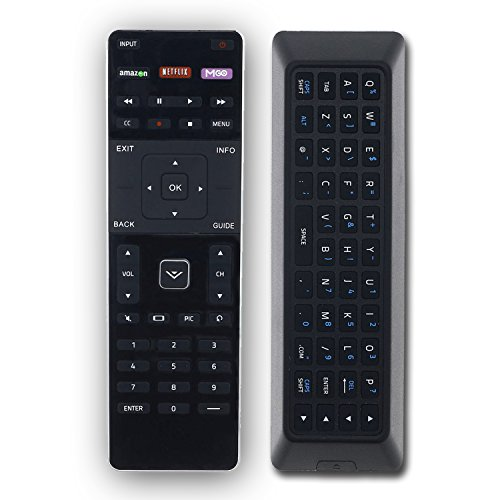 XRT500 Replacement Remote Control for VIZIO Smart TV with QWERTY Keyboard - with Amazon, Netflix and M-Go Buttons