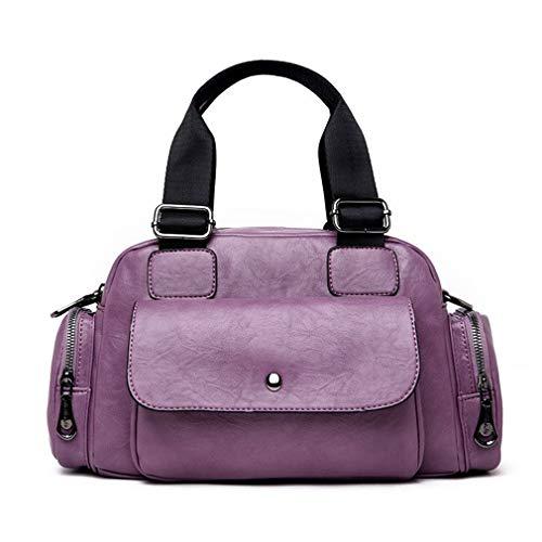 18cm Shoulder Causal Women Letters Purple Blue Bag Totes 35cm 12cm nUaa8BF