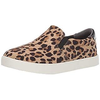 Dr. Scholl's Shoes Women's Leopard Microfiber Sneaker, Tan/Black, 9