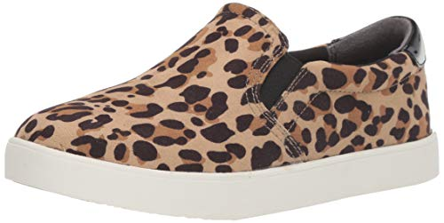 Dr. Scholl's Shoes Women's Madison Sneaker, Tan/Black Leopard Microfiber, 9 W US