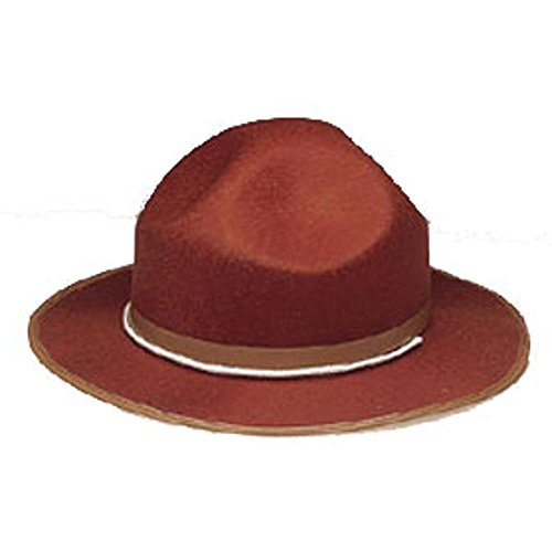Adult Brown Mountie Man Costume Hat ()