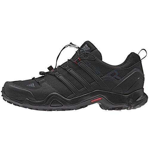 adidas Outdoor Terrex Swift R Hiking Shoe – Men's Black/Power Red/Dark Grey 12