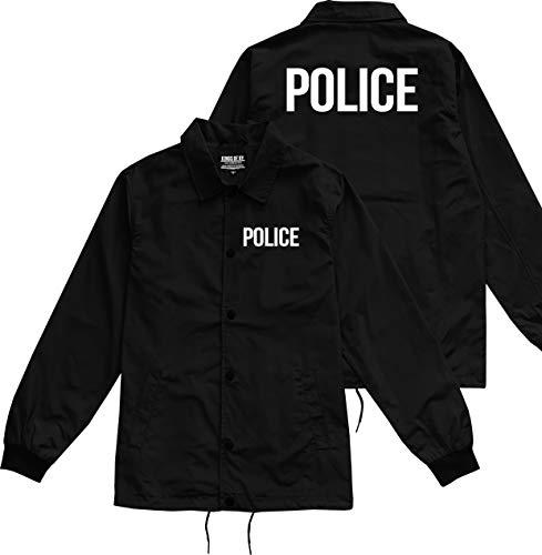 Kings Of NY Police Uniform Cop Costume Mens Windbreaker Nylon Coaches Jacket XX-Large Black