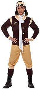 Atosa - Disfraz de aviador para hombre, talla 52-54 (12059)