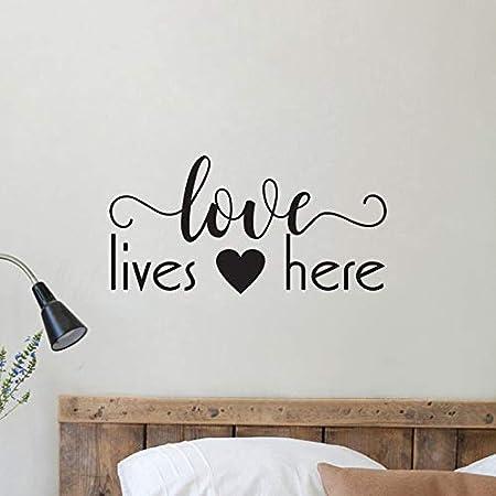 zhuziji Love Life Here Tatuajes de Pared decoración del hogar Cita ...