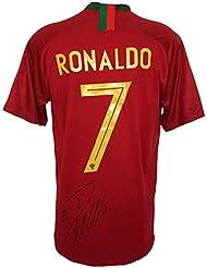 Cristiano Ronaldo Signed Large Signature 2017/18 Nike Portugal Soccer Jersey BAS