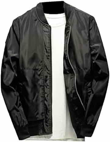 0b256a5157f GAGA Men s Lightweight Windbreaker Full Zip Long Sleeve Baseball Jacket Coat