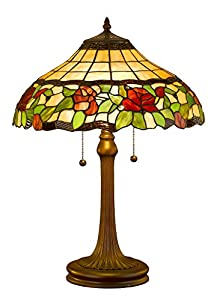 Amora Lighting Am006tl16 Tiffany Style Floral Table Lamp 23 Inch Multi Amazon Com