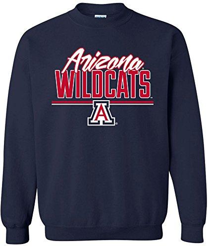 - Image One NCAA Arizona Wildcats Adult NCAA Script Crewneck Sweatshirt,XX-Large,Navy
