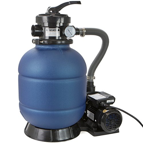 XtremepowerUS Above Ground Pool Sand Filter 13'' with 3/4 HP Pump 4 Way Valve 3450 RPM by XtremepowerUS