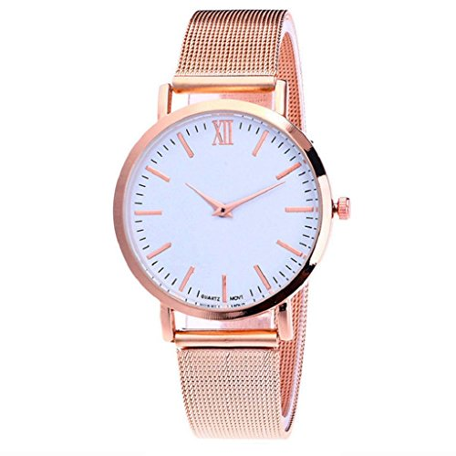 Watch Lover Gold (Quartz Wrist Watch,Hosamtel Delicate Business Alloy Analog Watch for Couple Lovers (Rose Gold))