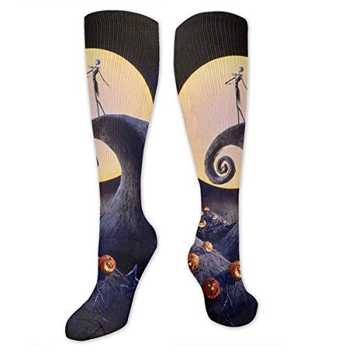 The Nightmare Before Christmas high socks Long Socks Boot Stocking Compression Sports Socks For Women -