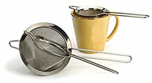 """Set of Three Stainless Steel Strainers 3"""", 3.5"""" and 4.75"""" Sizes. By RSVP"""