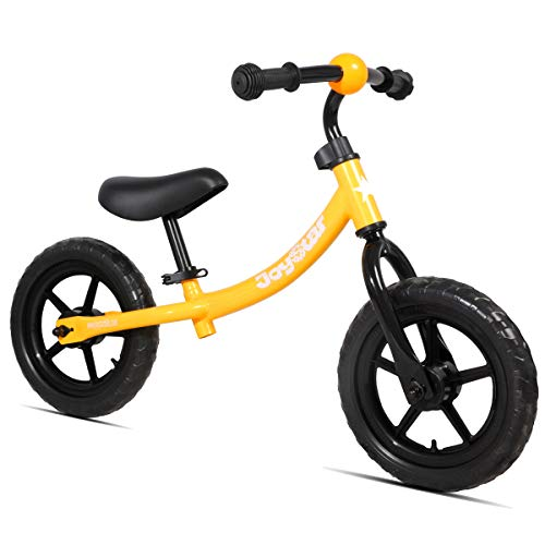 JOYSTAR Balance Bike for 1.5-5 Years Boys & Girls, Unisex Toddler Push Bicycle for Child, 12 inch Kids Glider Bike, Children Slider Cycle, Orange