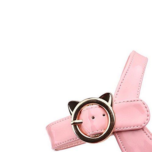 à Talon AgooLar GMBLA012551 Sandales Correct Rose Boucle Femme 42 PU D'orteil Cuir Ouverture xgwC0qwY1
