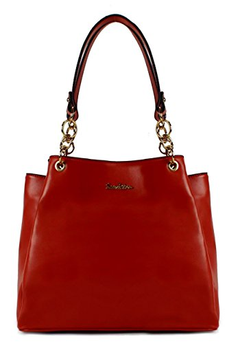 Scarleton Fashionable Modern Chic Satchel H171810 - Red by Scarleton