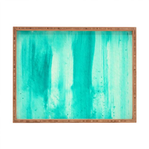 Deny Designs Madart Inc. Modern Dance Aqua Passion Indoor/Outdoor Rectangular Tray, 17 x 22.5 by Deny Designs