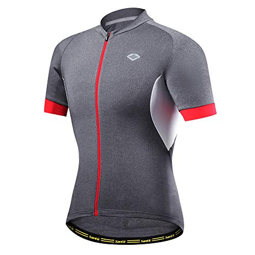 29850b1cd SANTIC Men s Cycling Jersey Short Sleeve Bike Shirts Quick-dry Breathable  Bicycle Tops