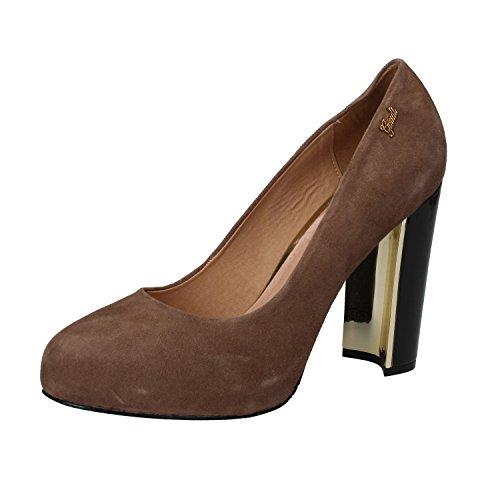 Gaudi - Zapatos de vestir de ante para mujer beige beige