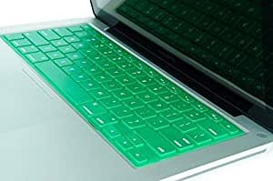 "Kuzy Keyboard Solid Metallic Silicone Skin for Macbook Pro 13"" 15"" 17"" and Macbook Air 13"" Green"