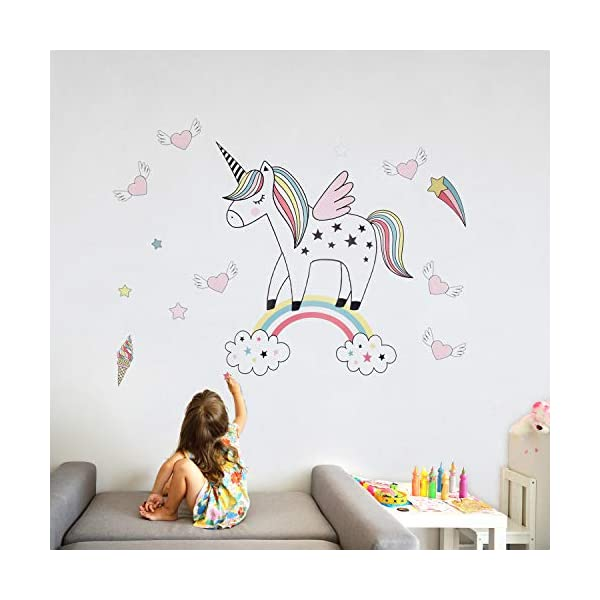 Unicorn Wall Decals Decor Stickers Large Gifts for Kids Teen Girls Boys Rooms Bedroom Nursery Bedding 7