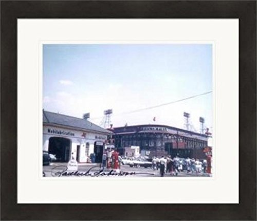 Ebbets Field Framed Photo - Signed Rachel Robinson Photo - 8x10 Ebbets Field home of the Brooklyn Dodgers #SC1 Matted & Framed - Autographed MLB Photos