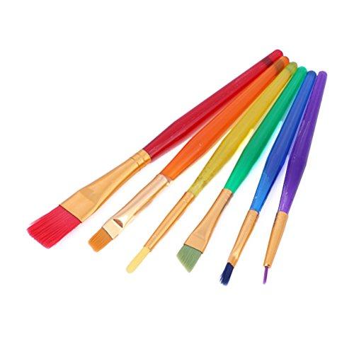 toymytoy 6pcs infantil brochas de pintura pincel de artista colorido Set para niños principiante con diferentes tamaños...